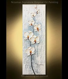 Oil Painting on canvas Orchid Original extra heavy texture palette knife by P. Nizamas ready to ship Texture Painting On Canvas, Palette Knife Painting, Painting Edges, Textured Painting, Wallpaper Nature Flowers, Orchids Painting, Plaster Crafts, Sell My Art, Art Moderne