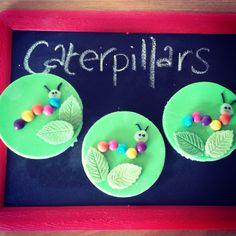 Cupcake toppers- Caterpillars