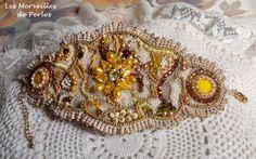 "Bracelet Baroque ""Colorado"" joliment brillant avec les perles jaunes. http://lesmerveillespat.canalblog.com/ http://www.alittlemarket.com/boutique/les_merveilles_de_perles-805099.htm"