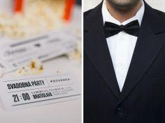 Na tento svadobný set sme veľmi hrdí. Moderný dizajn a prepracovaná typografia, vytlačené navyše na recyklovanom papieri pripomínajúci čas, keď ísť do kina bol sviatok. Vaši známi si pozvanie k stolu odtrhnú priamo na lístku. Naštartujte stroj na pukance a párty sa môže začať. Bratislava, 21st