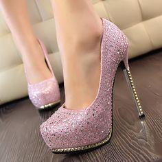 Dresswe.com SUPPLIES Fashion Shinning  Rhinestone Princess High Heels Prom Shoes  Prom Shoes (3)