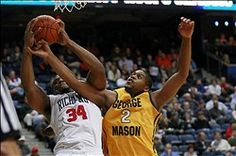 VCU Rams, George Mason Patriots and Richmond Spiders. Virginia rivals in the A-10 Conference: http://www.richmondspiders.com/SportSelect.dbml?DB_LANG=C&DB_OEM_ID=26800&SPID=91946&SPSID=629633 http://www.gomason.com/SportSelect.dbml?DB_OEM_ID=25200&SPID=80389&SPSID=606519&DB_OEM_ID=25200 http://www.vcuathletics.com/sports/mbkb/index