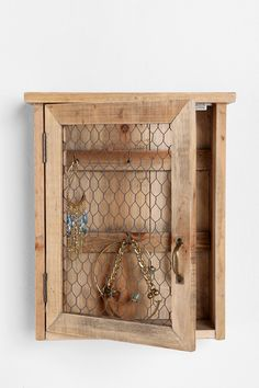 Reclaimed Wood Wall Jewelry Holder