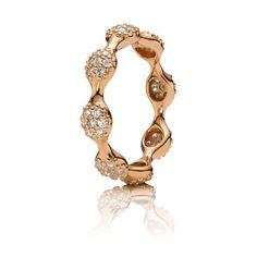 PANDORA   Rose gold lovepod, pavé diamond 0.56 ct