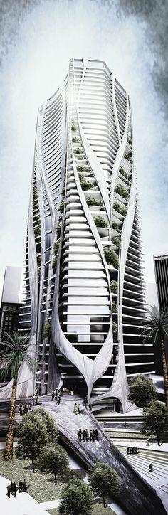 Inefficiency for Better Life - Jae Jun LEE ☮k☮ Architecture Antique, Parametric Architecture, Futuristic Architecture, Beautiful Architecture, Contemporary Architecture, Art And Architecture, Future Buildings, Unique Buildings, Amazing Buildings