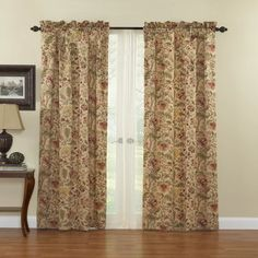 """66"""" x 54"""" CREAM NATURAL THERMAL BACKED LIGHT REDUCING CURTAINS 3/"""" PENCIL PLEAT"""