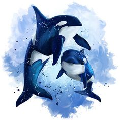 Whale Drawing, Whale Painting, Diy Painting, Orca Tattoo, Whale Tattoos, Killer Whale Tattoo, Killer Whales, Animal Paintings, Animal Drawings