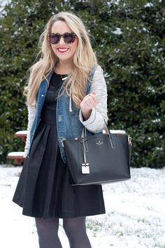 Winter Date Night Outfit Idea | Faux Leather Dress | Pearls & Twirls Life & Style Blog