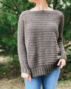 FREE Crochet Pattern - The Over Sized Crochet Pullover Sweater by BrennaAnnHandmade