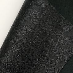Black Lace Textured Faux Leather Faux Leather Fabric, White Cotton, Cotton Canvas, Craft Projects, Bows, Texture, Lace, Crafts, Color