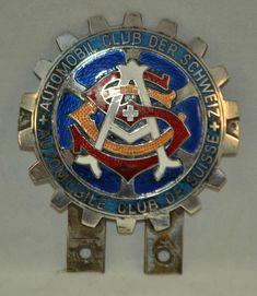 Vintage / Classic - Metal / Enamel Car Badge - Automobile Club De Suisse