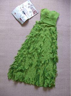 """Très belle robe créateur robe de soirée / cérémonie """"printemps"""", vert pomme : Robe par une-pivoine-rouge"""