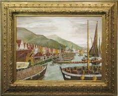 Wendelboe Fra Bryggen i Bergen på 1800 tallet.