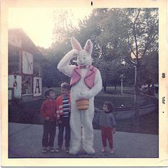 Vintage photo of Nut Tree Easter Bunny