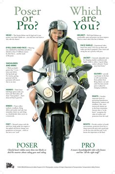 Poser or pro? Which are you?, by Team Oregon, Motorcycle Safety Program