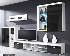 Sala Gama   Estilo em sua casa Living Room Color Schemes, Tv Cabinets, Wall Mount, Lounge, House Design, Tv Units, Entertaining, Architecture, Tvs