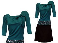Entdecke lässige und festliche Kleider: HerbstBunt Kleid Elise - viele Farben made by ungiko via DaWanda.com