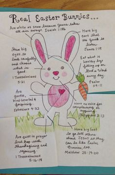Sunday school puzzle for preschoolers. A clever way to keep Easter Christ-centered but incorporate the bunny for the young kids.