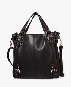 Faux Leather Carry-All   FOREVER21 - 1047712369  This looks exactly like Deena & Ozzy Tradition Tote from Urbanoutfitters
