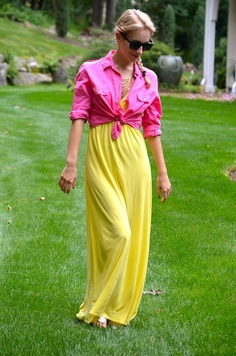 Katie's Bliss: Colorblocking at the end of Summer