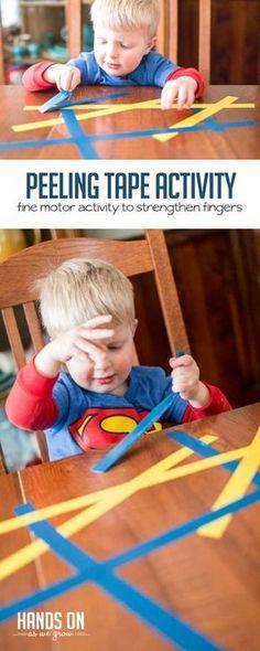peeling tape | fine motor activity for kids
