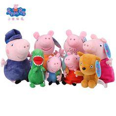 Echte Peppa Schwein familie Plüschtiere Peppa Pig George Familie Spielzeug für Kinder Hobby Puppen & Angefüllter Plüsch Spielt Neue Jahr Geschenke