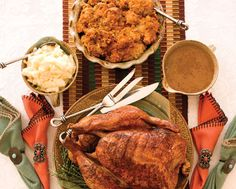 Thanksgiving Dinner | New Mexico Magazine | Includes a recipe for Oven-Roasted, Red-Chile–Rubbed Turkey with Cornbread-Chorizo Dressing.