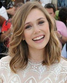 Elizabeth Olsen- I like this hair color/style!