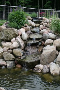 flower bed designs with  ponds