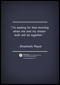 """""""I'm waiting for that morning when me and my dream both will be together."""" #IVF #infertility"""