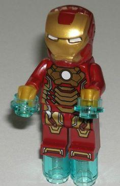 Lego Super Heroes Iron Man 3 Mark 42 Armor Suit Minifigure 76006 | eBay $12.49