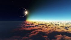Eclipse above clouds - Amazing picture of solar eclipse taken above the clouds