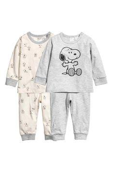 2-pack jersey pyjamas - Grey/Snoopy - | H&M 1