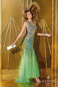 ALYCE Paris green prom dress style #6192