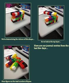 Finding volume using cubes and layers. Awesome!