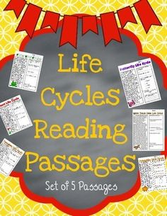 Life Cycle Reading Passages {Set of 5}