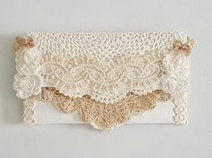 Bridal Clutch Bag , Ivory Wedding Purse , Lace Clutch , Gift For Her , Bridal Purse , Fabric Clutch , Clutch Purse , Wedding Purses