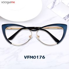 f5fc330017af8 Annabelle Blue Cat Eye Glasses The glasses are made of high quality metal  and the temple