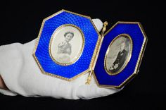 Photo frame, Royal Fabergé exhibition, Buckingham Palace by The British Monarchy, via Flickr