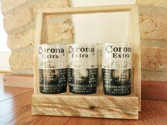 handmade six glasses cut from corona beer di GARAGEbySilvio
