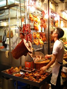 street food in Hong Kong *drools* best char siu/bbq in the world