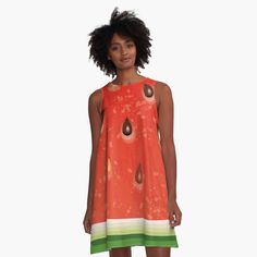 Watermelon Tattoo, Watermelon Water, Watermelon Ice Cream, Watermelon Dress, Watermelon Salad, Watermelon Tourmaline, Watermelon Festival, I Dress, Chiffon Tops