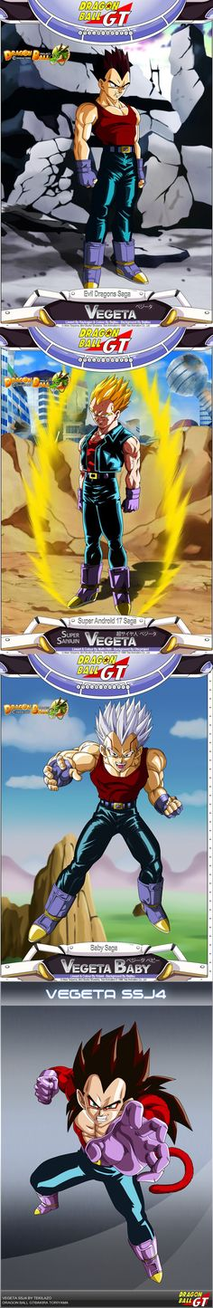 Vegeta Dragon Ball GT #ANIME