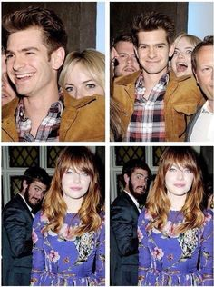 Best couple EVER!!! Emma Stone and Andrew Garfield are the best couple at photobombing! Example A!!❤️❤️❤️