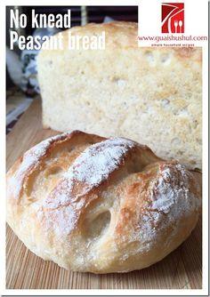 No Knead Simple Peasant Bread (免揉农夫面包) #guaishushu #kenneth_goh #no_knead_bread