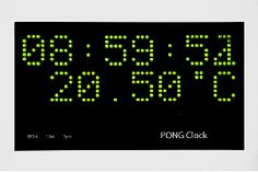 Arduino Pong Clock With Temperature and Timer: 16 Steps (with Pictures) Arduino Stepper, Classic Video Games, Clock, Pictures, Watch, Photos, Photo Illustration, Drawings, Clocks