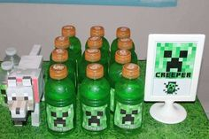 MineCraft Birthday Party Ideas | Photo 4 of 14 | Catch My Party