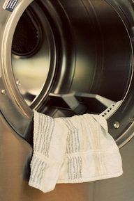 I'll try it!   THIS REALLY WORKS AND LAUNDRY IS SUPER SOFT!!! Soak a hand towel in fabric softener. Squeeze out any remaining drops from the towel. Hang it over a chair (or outside on a clothes line) to dry. My house smelled super clean for the three days while this towel was drying completely. Yes, it took three days! You must make sure it dries completely! After the towel dries you just throw it in your dryer along with clothes and use it as a dryer sheet for 40-50 loads before soaking…