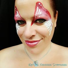 Inspired by Annie Reynolds angel wings butterfly facepaint