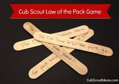 Cub Scout Law of the Pack Activity - Cub Scout Ideas